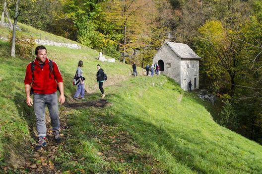 Sul Sentiero del castagno in Valle Imagna