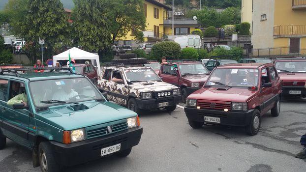 Raduno delle Fiat Panda 4x4 in Valgandino
