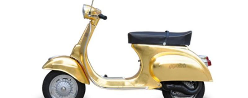 Ultime Notizie: Ecco la Vespa Polini OroLo scooter più prezioso al mondo