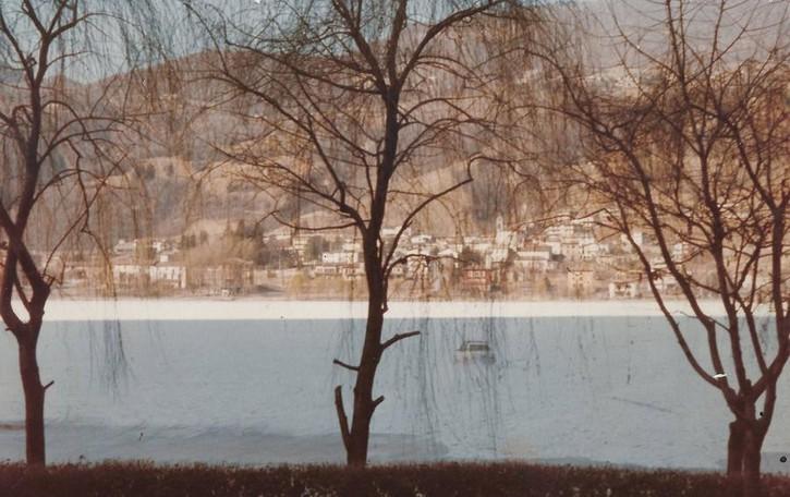 Che anni quegli anni (Ottanta...) In auto sul lago d'Endine ghiacciato