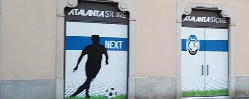 Apre l'Atalanta store in via Tiraboschi Ci saranno calciatori, Gasp e Percassi
