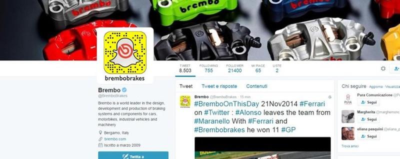 Ferrari, Moncler e Tim regine «social» Ma subito dopo c'è anche la Brembo