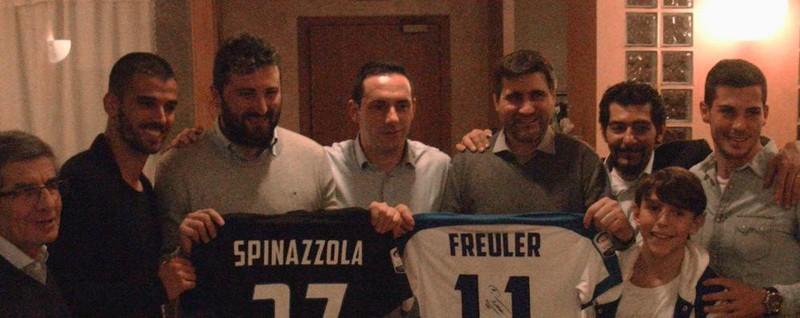 Il 30 anni del Club Amici di Ponte Alla festa Spinazzola e Freuler