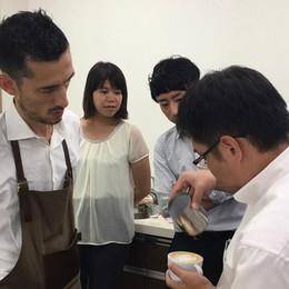 Valli in Giappone Insegna a fare il caffè