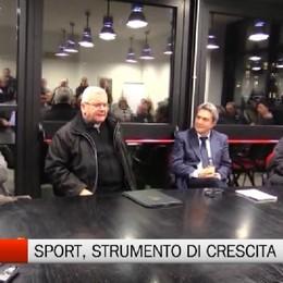 Il Vescovo nella sede del Csi: Lo sport, grande strumento educativo
