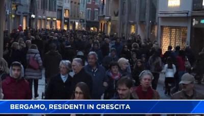 Bergamo, residenti in aumento.