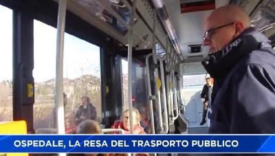 Ospedale, passeggeri autobus Atb costretti a scendere prima