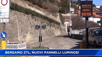 Bergamo. Nuovi pannelli luminosi sulle Ztl, poi arriveranno le telecamere