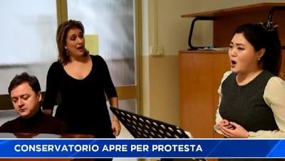 Bergamo. Il Conservatorio apre per protesta