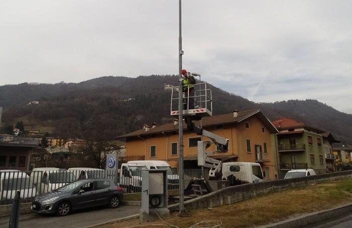 Installazione delle telecamere Thor a Casnigo