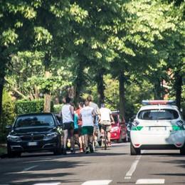 Gorle, blitz dei runner al quartiere Baio Corre la protesta contro la diffida