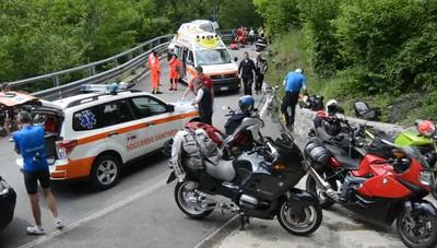 L'incidente sulla strada della Val Taleggio