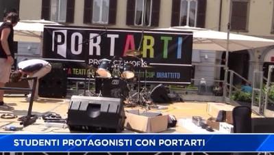 Portarti - studenti animano il centro di Bergamo