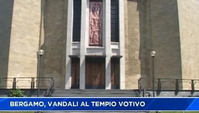 Bergamo, vandali al Tempio votivo