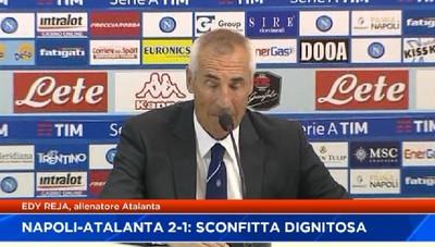 Napoli-Atalanta 2-1, sconfitta dignitosa. Reja:Restare a Bergamo? Dipende dal presidente, e anche da me