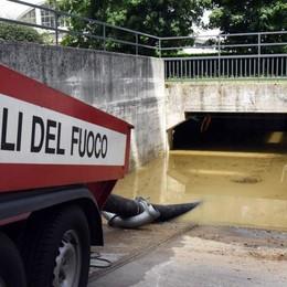 Nubifragio,   a Longuelo un disastro  Garage allagati: 60 auto da demolire