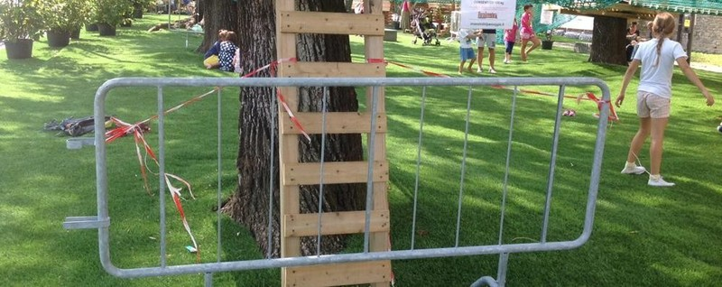 Parco avventura in piazza Mascheroni Stop per sicurezza, ma lunedì si riapre