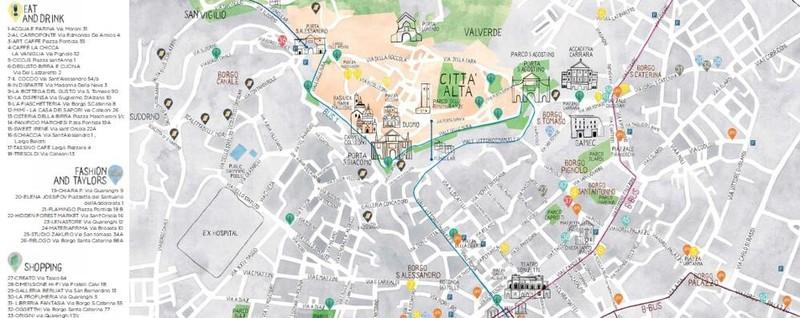 On line sì, ma anche sulla carta Bergamo city Kiwi si fa mappa