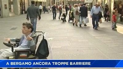 Bergamo, ancora troppe barriere architettoniche