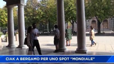 Ciak a Bergamo, si gira uno spot