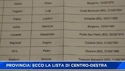 Provincia, presentata la lista di centro-destra