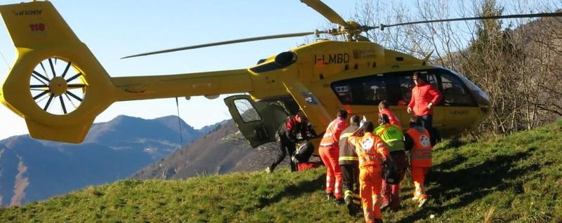 Bimbo caduto dal lucernario Ricoverato a Bergamo, sta meglio