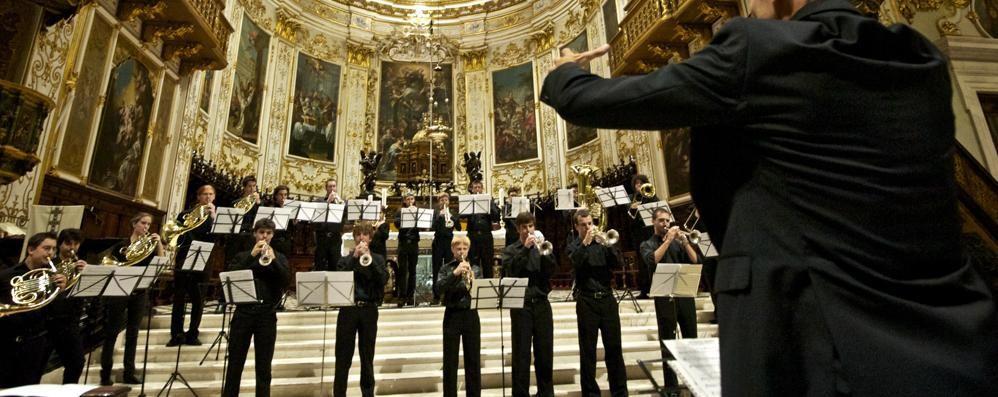 A Treviglio concerto degli ottoni del Donizetti
