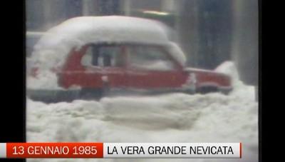 Ricordate la grande nevicata dell'85?   Mai più vista in città così  -Video