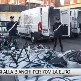 Ladro di biciclette alla Bianchi: è un dipendente