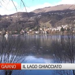 Endine, il lago ghiacciato e i pericoli per i pattinatori