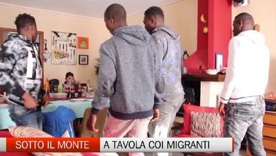 Sotto il Monte, a tavola coi migranti