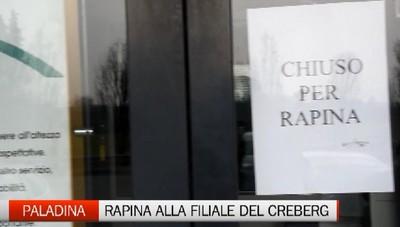 Paladina: rapina alla filiale del Credito Bergamasco