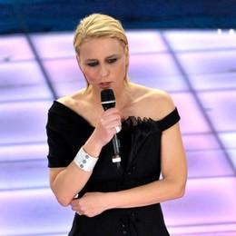 Maria De Filippi a Sanremo con Riccardo Tisci