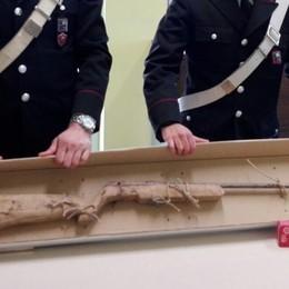 Fara, costruiva armi in casa -Foto Denunciato operaio-MacGyver