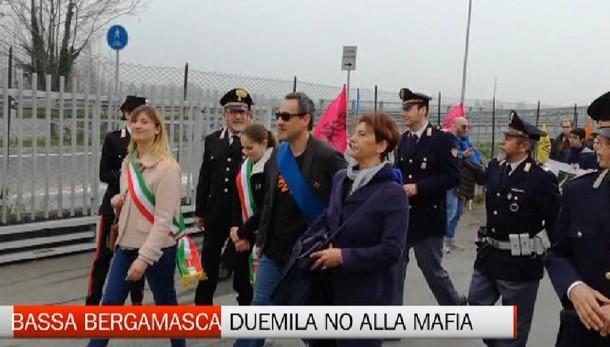 Bassa Bergamasca- In 2000 con Libera per dire no alla mafia