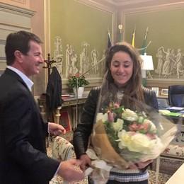Il sindaco Gori incontra Sofia Goggia «La città ti ha seguito con entusiasmo»