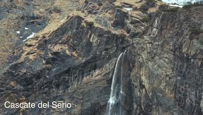 Le cascate del Serio riprese dal drone