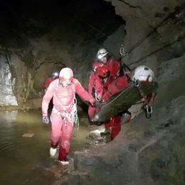 Persona bloccata nelle miniere  Nuova esercitazione a Dossena