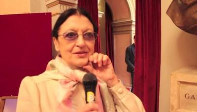 Carla Fracci in visita al Donizetti