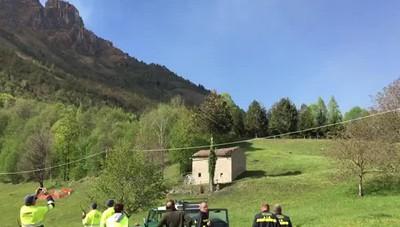 Incendio Val Taleggio, in azione i canadair
