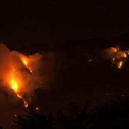 Circoscritto l'incendio sul Cancervo  Val Taleggio, strada verso la riapertura