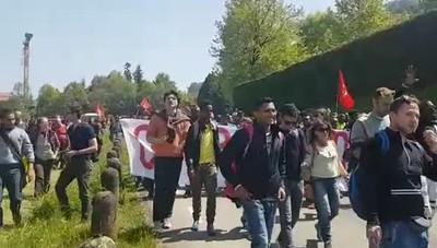 Il corteo dei manifestanti