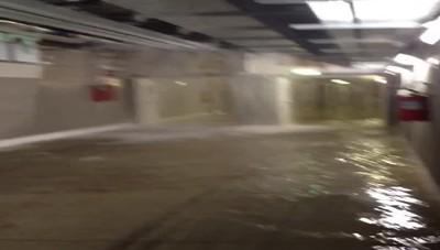 L'acqua nei sotterranei dell'ospedale
