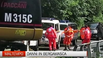 Maltempo, i danni in Bergamasca