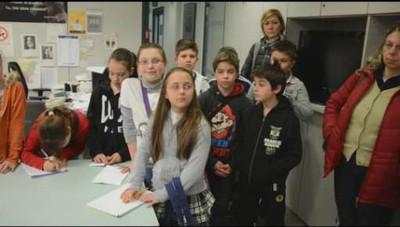 Gli alunni delle scuole elementari di Berbenno, Corna e Selino Alto in visita a L'Eco