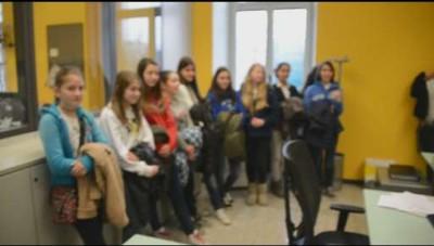 I ragazzi delle elementari dell'istituto comprensivo di Mozzo in visita a L'Eco