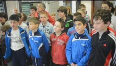 I ragazzi delle elementari di Clusone in visita a L'Eco di Bergamo
