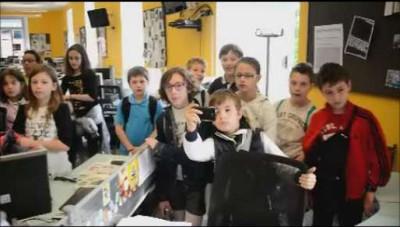 I ragazzi delle elementari di Colzate in visita a L'Eco di Bergamo