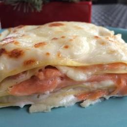 Salmone e burrata a braccetto per delle lasagne davvero speciali