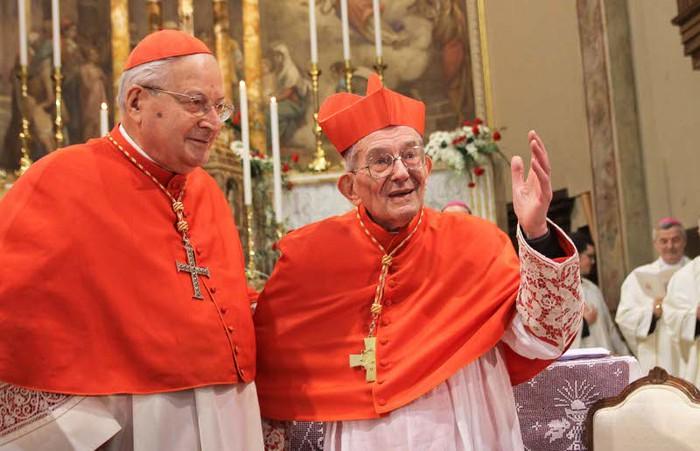 Il cardinale Angelo Sodano e il cardinale Loris Capovilla
